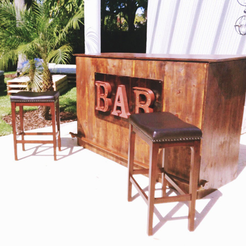 rustic table rental - South FLorida