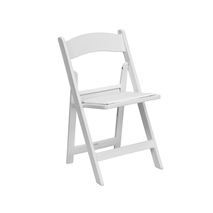 White resin chairs - Miami - Fort Lauderdale and South Florida
